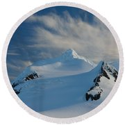 Antarctic Landscape Round Beach Towel