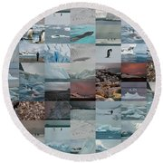 Antarctic Mosaic Round Beach Towel