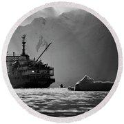 Antarctican Expedition 2013.  Ship Name Round Beach Towel