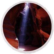 Antelope Canyon 3 Round Beach Towel