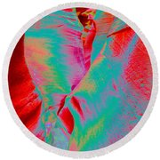 Antelope Canyon Abstract Round Beach Towel