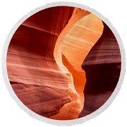 Antelope Canyon Round Beach Towel