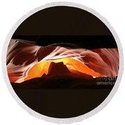 Antelope Canyon Panorama Round Beach Towel
