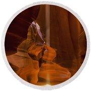 Antelope Canyon Utah, United States Round Beach Towel