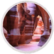 Antelope Canyon1 Round Beach Towel