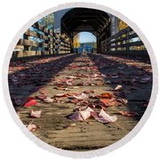 Antelope Creek Bridge Round Beach Towel