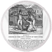 Anti-slavery, 1835 Round Beach Towel