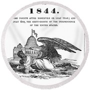 Anti-slavery Almanac, 1844 Round Beach Towel