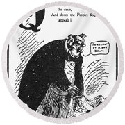 Anti-trust Cartoon, 1902 Round Beach Towel