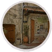 Antibes France Scene Paintings Dsc02278  Round Beach Towel