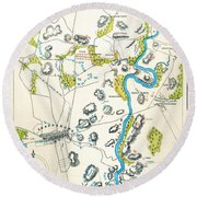 Antietam, Maryland, 1862 Round Beach Towel