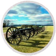 Antietem Battlefield Painting Forsale Round Beach Towel