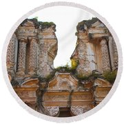 Antigua Ruins Round Beach Towel