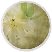 Antique Azalea Round Beach Towel