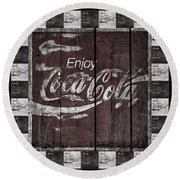 Antique Coca Cola Signs Round Beach Towel