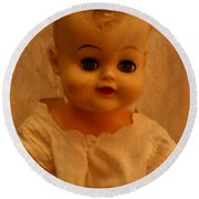 Antique Doll 1 Round Beach Towel