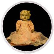 Antique Doll 2 Round Beach Towel