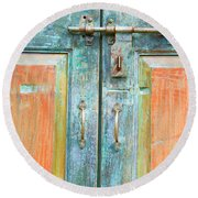 Antique Doors Round Beach Towel