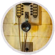 Antique Intercom Round Beach Towel