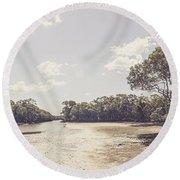 Antique Mangrove Landscape Round Beach Towel