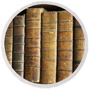 Antique Medical Books Round Beach Towel