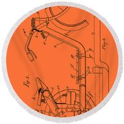 Antique Motorcycle Patent 1921 Round Beach Towel