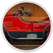 Antique Pedal Car 2 Round Beach Towel