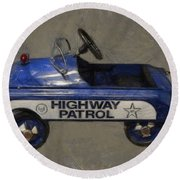 Antique Pedal Car V Round Beach Towel by Michelle Calkins