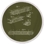 Antique Railroad Tie Patent 1915 Round Beach Towel