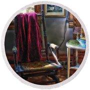Antique Rocking Chair Round Beach Towel