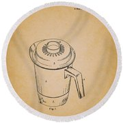 Antique Westinghouse Coffee Maker Patent 1964 Round Beach Towel