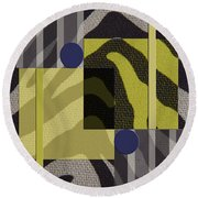 Anything Goes Round Beach Towel