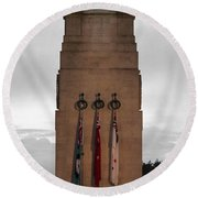 Anzac Day 2014 Auckland Museum Cenotaph Round Beach Towel