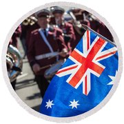 Anzac Day In Perth  Round Beach Towel