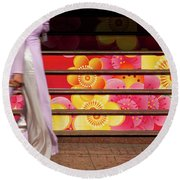 Ao Dai Round Beach Towel