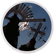 Apache Dancers Round Beach Towel