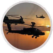 Apache Escort  Round Beach Towel