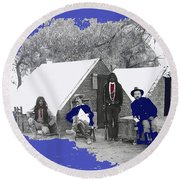 Apache Scouts Soldiers Living Quarters Location And Date Unknown  Round Beach Towel