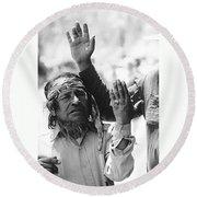 Apache's Signing 100th Anniversary Fort Apache Arizona 1970 Round Beach Towel