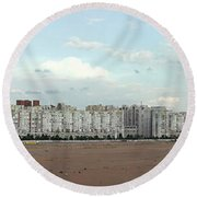 Apartment Blocks At The Waterfront, St Round Beach Towel