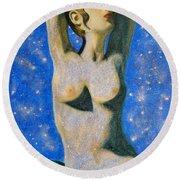 Aphrodite  Round Beach Towel by Augusta Stylianou