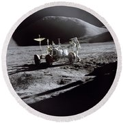 Apollo 15 Lunar Rover Round Beach Towel