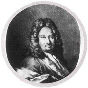 Apostolo Zeno (1668-1750) Round Beach Towel