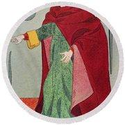 Apothecary, 15th Century Round Beach Towel