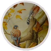 Appalachian Autumn  Round Beach Towel
