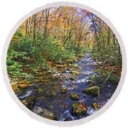 Appalachian Highlands Round Beach Towel