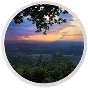 Appalachian Mountains Round Beach Towel
