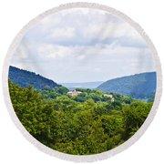 Appalachian Mountains West Virginia Round Beach Towel