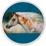 Appaloosa Spirit 3618 Round Beach Towel