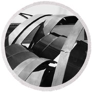 Apparitions Of Faces  Round Beach Towel